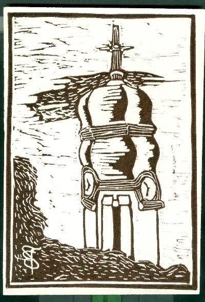 Zagyvarékas, Római Katolikus Templom Magyarország gyermekszemmel linómetszetekben Szávai István és a Szolnoki Metszőkör szignált