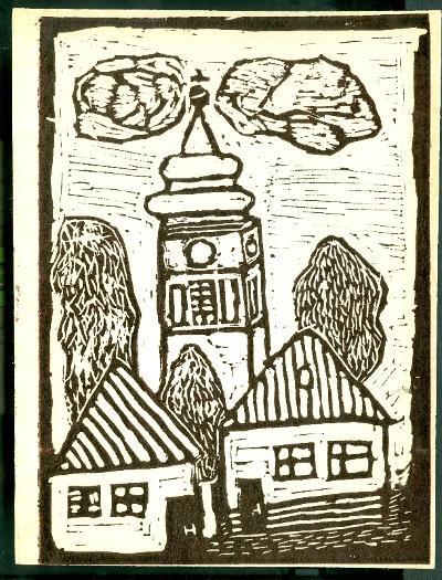 Kunhegyes, Római Katolikus Templom Magyarország gyermekszemmel linómetszetekben Szávai István és a Szolnoki Metszőkör