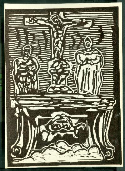 Jászladány, Barokk Kálvária a Hősök terén Magyarország gyermekszemmel linómetszetekben Szávai István és a Szolnoki Metszőkör