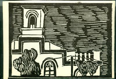 Jászladány, Római Katolikus Templom Magyarország gyermekszemmel linómetszetekben Szávai István és a Szolnoki Metszőkör