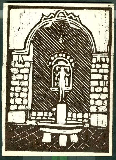Szolnok, Lány Halakkal (Borbereki Kovács Zoltán szobra, 1937) Magyarország gyermekszemmel linómetszetekben Szávai István és a Szolnoki Metszőkör