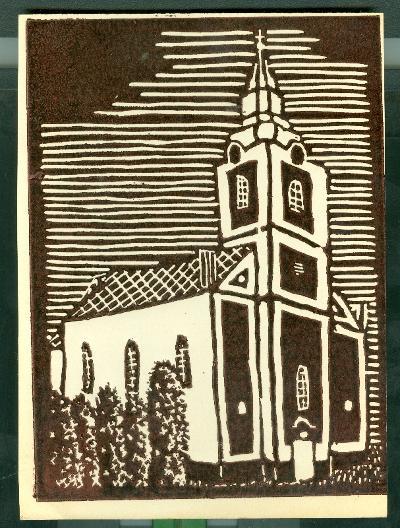 Alattyán, Római Katolikus Templom Magyarország gyermekszemmel linómetszetekben Szávai István és a Szolnoki Metszőkör