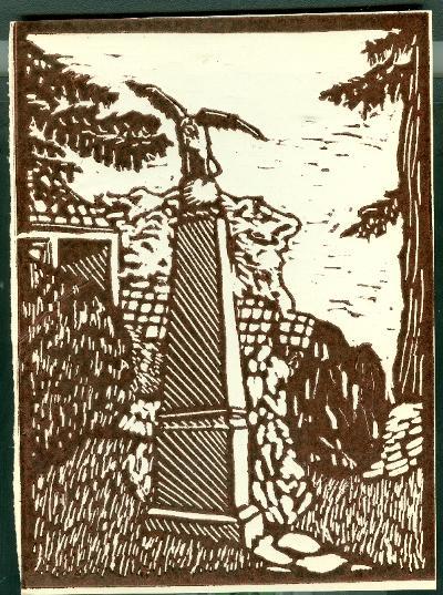 Jászfelsőszentgyörgy, Turul-szobor Magyarország gyermekszemmel linómetszetekben Szávai István és a Szolnoki Metszőkör
