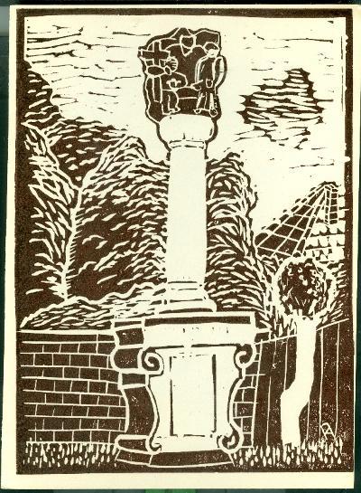 Jászfelsőszentgyörgy, szobor Magyarország gyermekszemmel linómetszetekben Szávai István és a Szolnoki Metszőkör