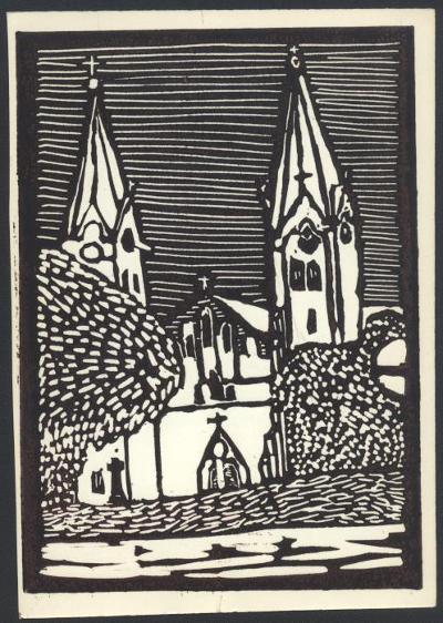 Törökszentmiklós, Római Katolikus Templom Magyarország gyermekszemmel linómetszetekben Szávai István és a Szolnoki Metszőkör