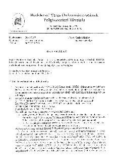 Perbál külterület 0153/21 hrsz KÖH engedély
