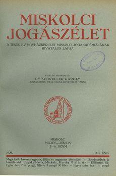 Miskolci Jogászélet 1936 5/3