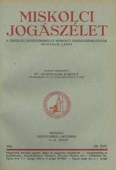 Miskolci Jogászélet 1936. 5/4