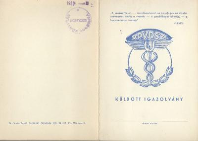 A KPVDSZ (Kereskedelmi, Pénzügyi és Vendéglátóipari Dolgozók Szakszervezete) Küldött Igazolványa