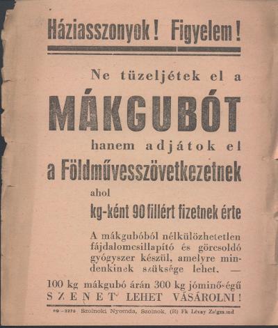 Gyűjtsétek a mákgubót! Földművesszövetkezeti felhívás