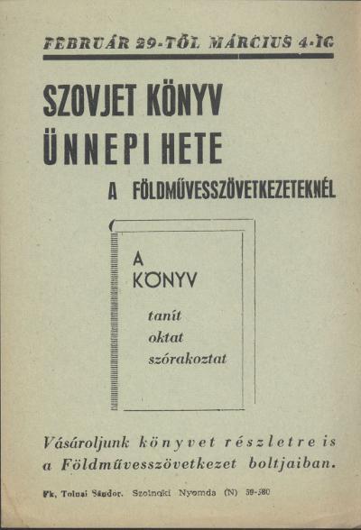 Szovjet könyv ünnepi hete a Földművesszövetkezeteknél
