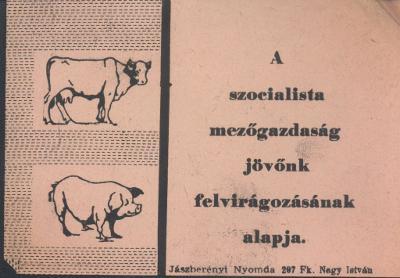 """""""A szocialista mezőgazdaság jövőnk felvirágozásának alapja."""""""