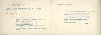 Meghívó a Fémnyomó és Lemezgyár Szakszervezeti Bizottságának választási küldött közgyűlésére
