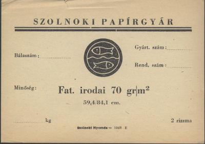 Szolnoki Papírgyár (70 gr/m2)