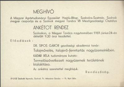 Meghívó a Magyar Agrártudományi Egyesület ankétjára