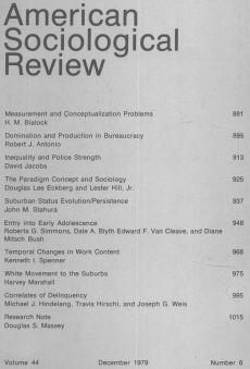 American Sociological Review 1979-12