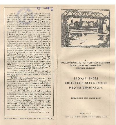 A Ságvári Endre kulturális seregszemle ünnepi programfüzete