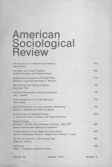 American Sociological Review 1979-10
