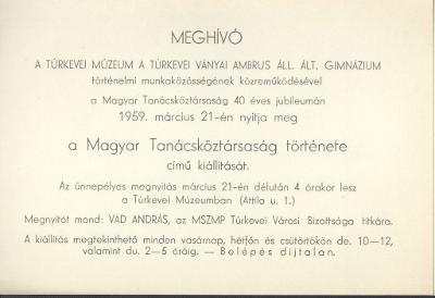 """Meghívó a """"Magyar Tanácsköztársaság története"""" című kiállításra"""