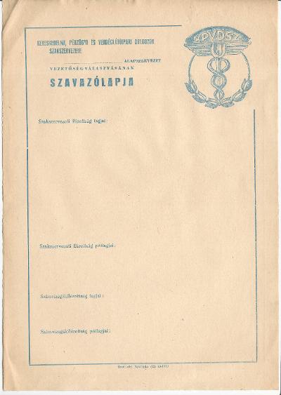 KPVDSZ szavazólapja