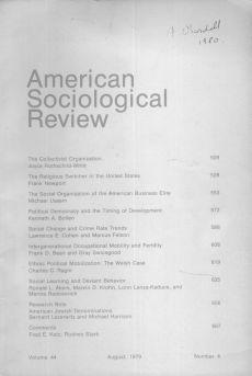 American Sociological Review 1979-8