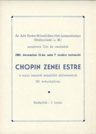 Meghívó Chopin zenei estre