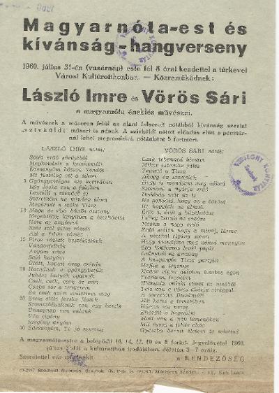 Magyar Nótaest és kívánság hangverseny