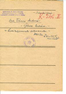 Gérce leírása (1954)