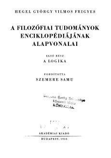 A filozófiai tudományok enciklopédiájának alapvonalai