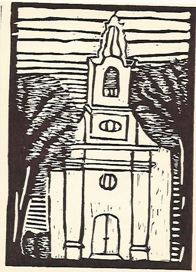 Csépa, Római Katolikus Templom, Magyarország gyermekszemmel linómetszetekben, Szávai István és a Szolnoki Metszőkör