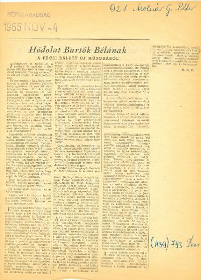 Hódolat Bartók Bélának