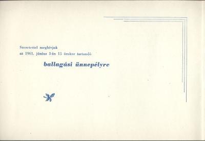 Hatvani 213. Damjanich János Ipari Tanuló Intézet ballagási meghívója