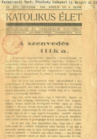 Katolikus élet 1944