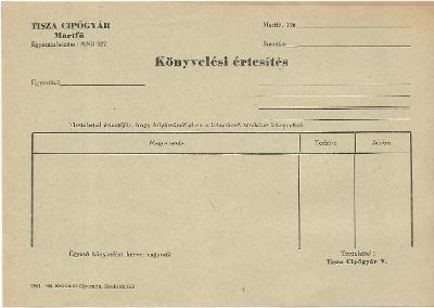 Könyvelési értesítés