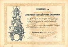 A Kunszentmiklós-Dabas-Szabadszállási Takarékpénztár részvénye 10 pengőről