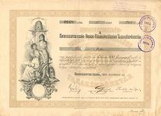 A Kunszentmiklós-Dabas-Szabadszállási Takarékpénztár részvénye 200 koronáról