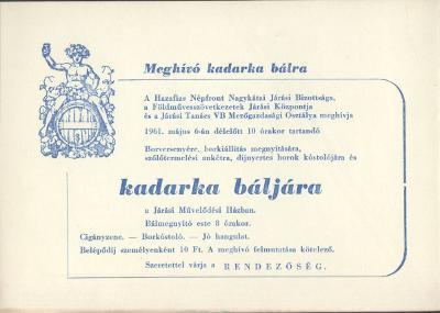 Meghívó Kadarka bálra