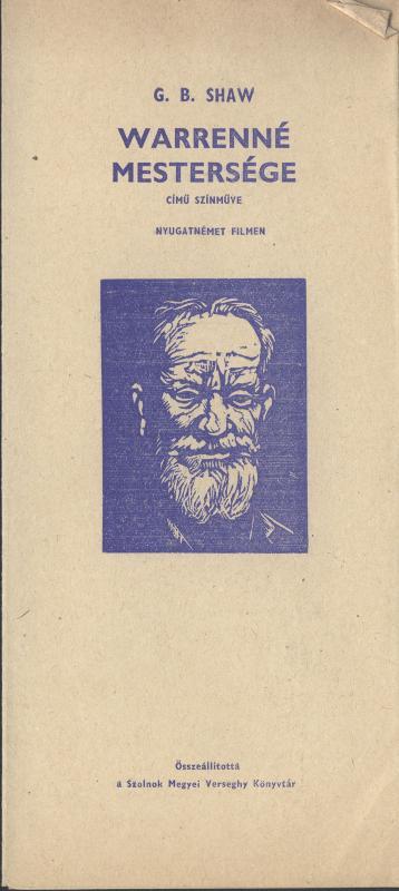 G. B. Shaw: Warrenné mestersége