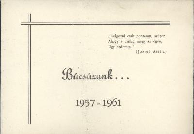 A szolnoki Verseghy Ferenc Állami Általános Gimnázium ballagási meghívója