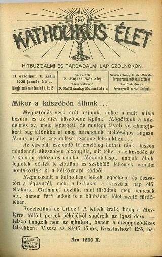 Katholikus élet 1925