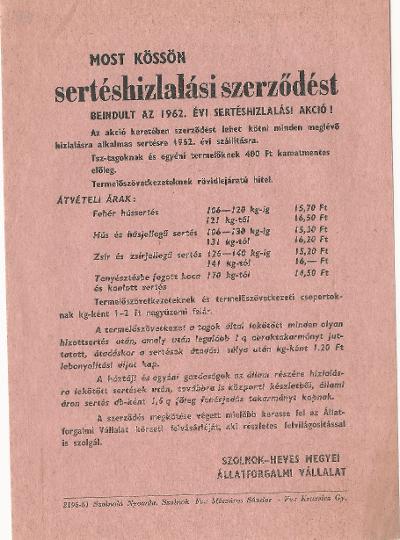 Sertéshizlalási szerződés