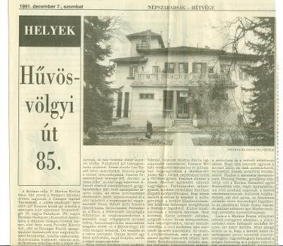 Hűvösvölgyi út 85.