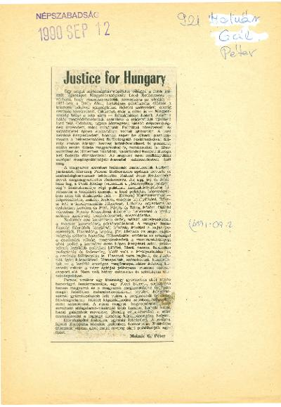 Justice for Hungary