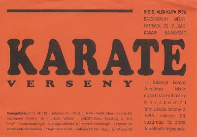 Karateverseny – S.O.S. ALFA KUPA 1996