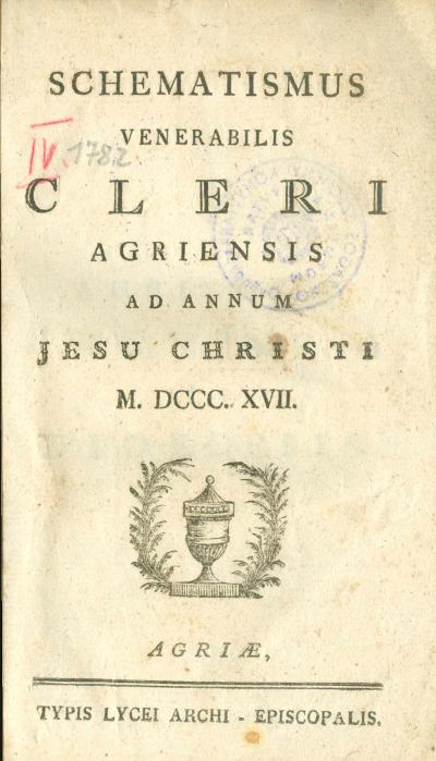 Agriensis 1817