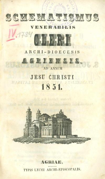 Agriensis 1851