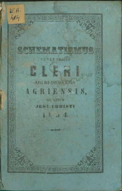 Agriensis 1854