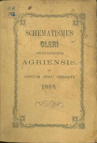 Agriensis 1868