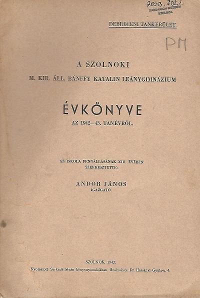 Lead Évkönyv az 1942-43. tanévről
