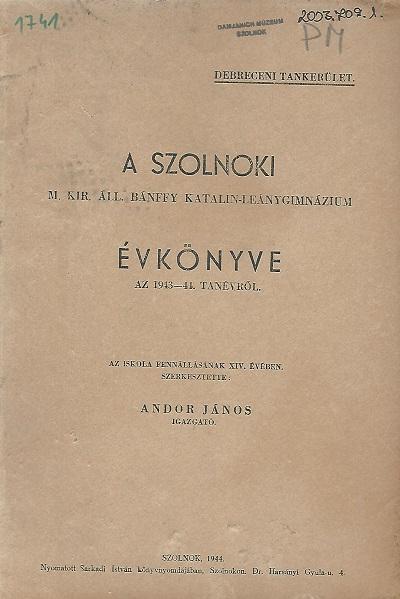 Lead Évkönyv az 1943-44. tanévről